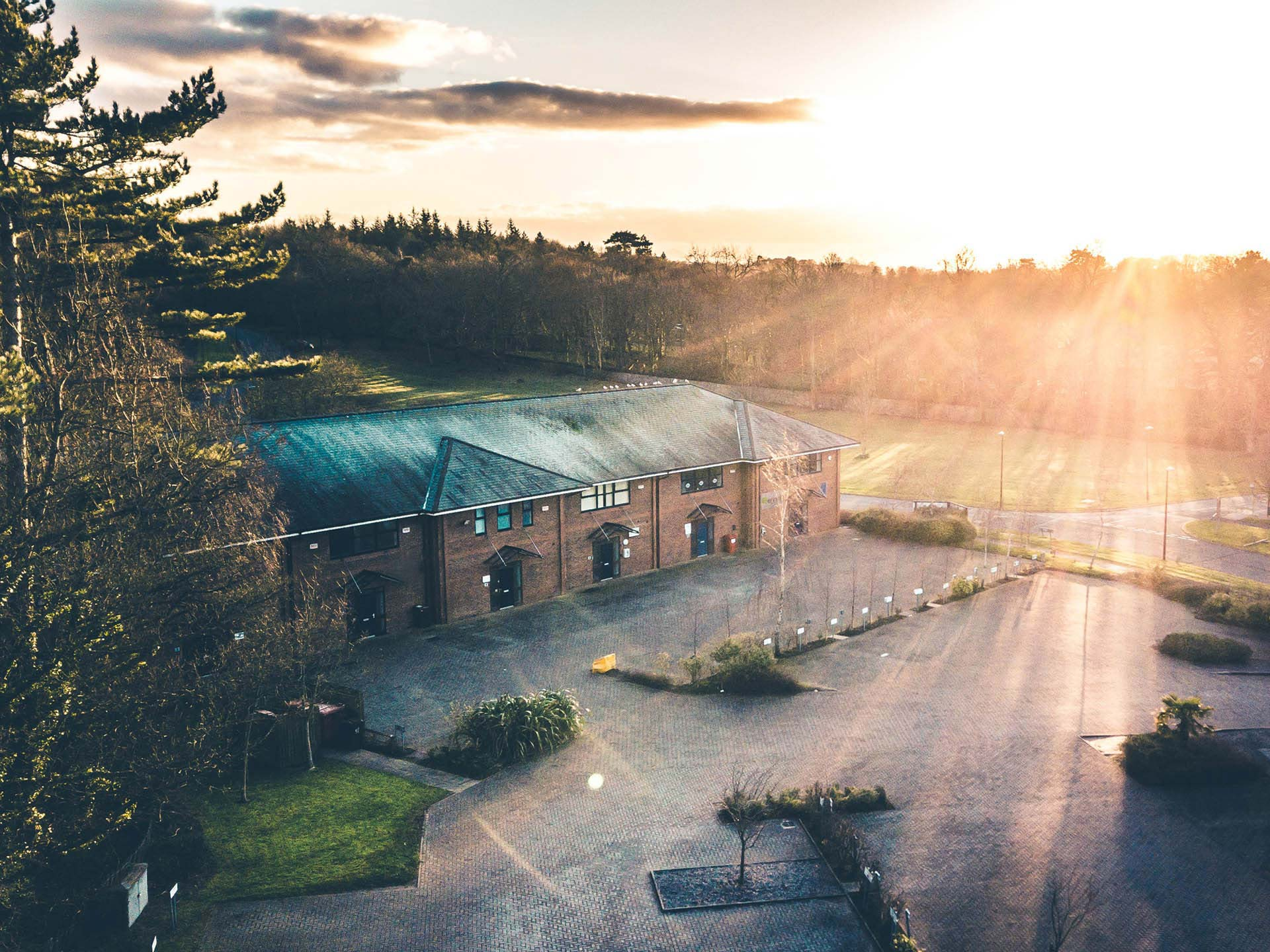 Photo of EWP Bangor offices captured by a drone