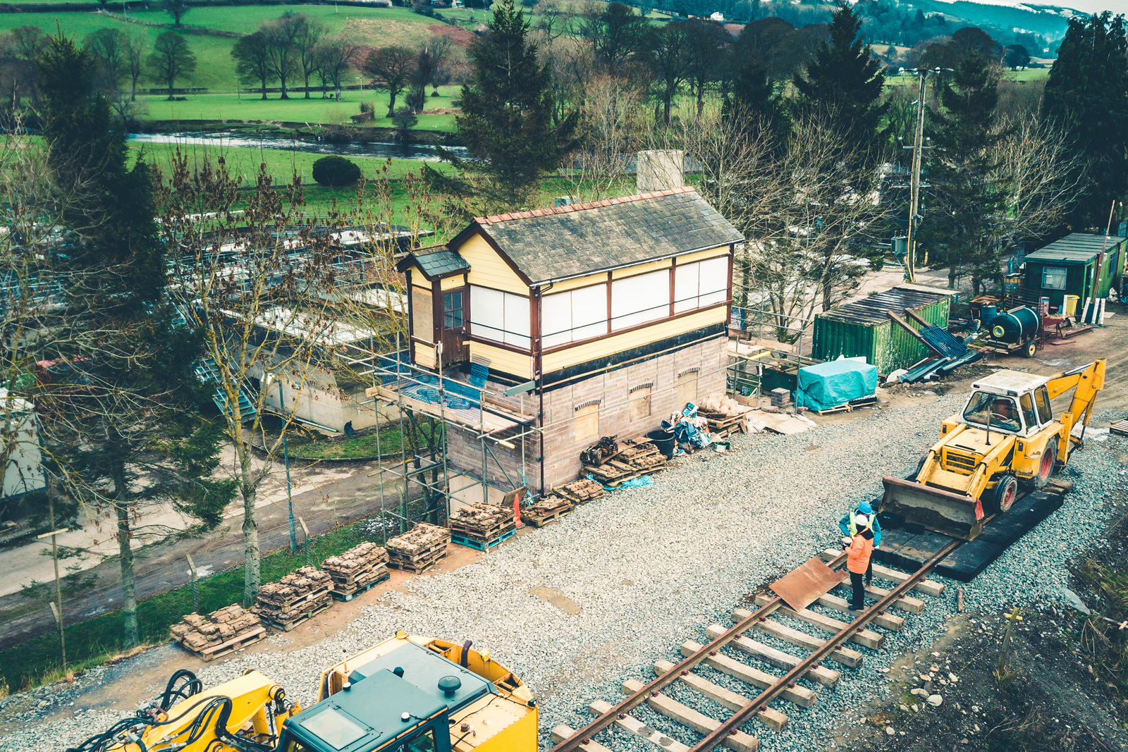 Construction on Llangollen Railway carried out by Evans Wolfenden Partnership